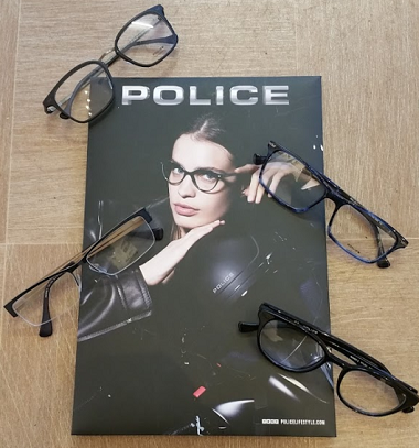 police glasses stock