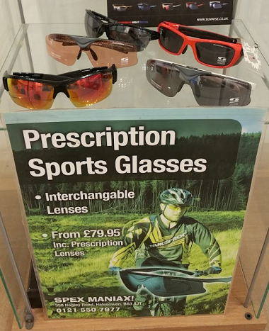 sports glasses stock